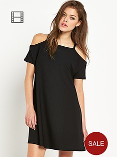 river-island-sleeveless-cold-shoulder-swing-dress