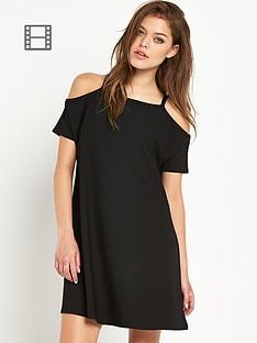 river-island-sleeveless-cold-shoulder-swing-dress