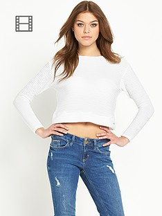 river-island-long-sleeve-ribbed-sweat-top