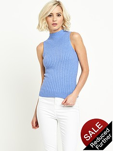 river-island-ribbed-turtle-neck-top