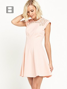 river-island-lace-detail-skater-dress