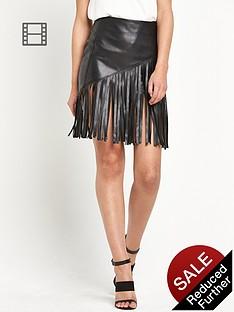 river-island-fringed-pu-mini-skirt