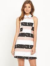Stripe Aline 2-1 Waisted Dress