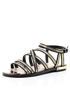 river-island-gold-trim-gladiator-sandals