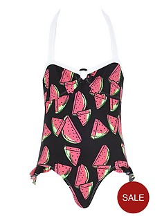 river-island-girls-ring-bow-back-watermelon-swimsuit