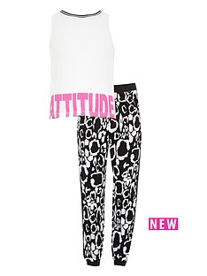 river-island-girls-attitude-crop-top-with-jogger-2-piece-set