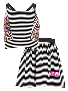 river-island-girls-tribal-block-stripe-top-and-skirt-set