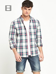 river-island-mens-long-sleeve-tartan-check-shirt