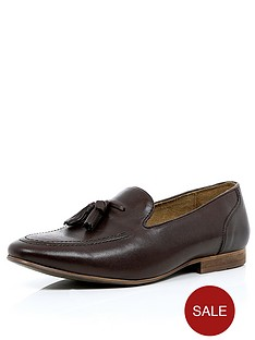river-island-brown-tassle-loafers
