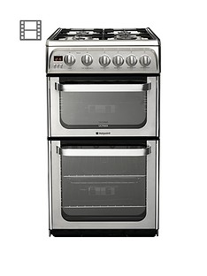 Hotpoint Ultima HUG52X 50cm Gas Cooker with FSD - Stainless Steel