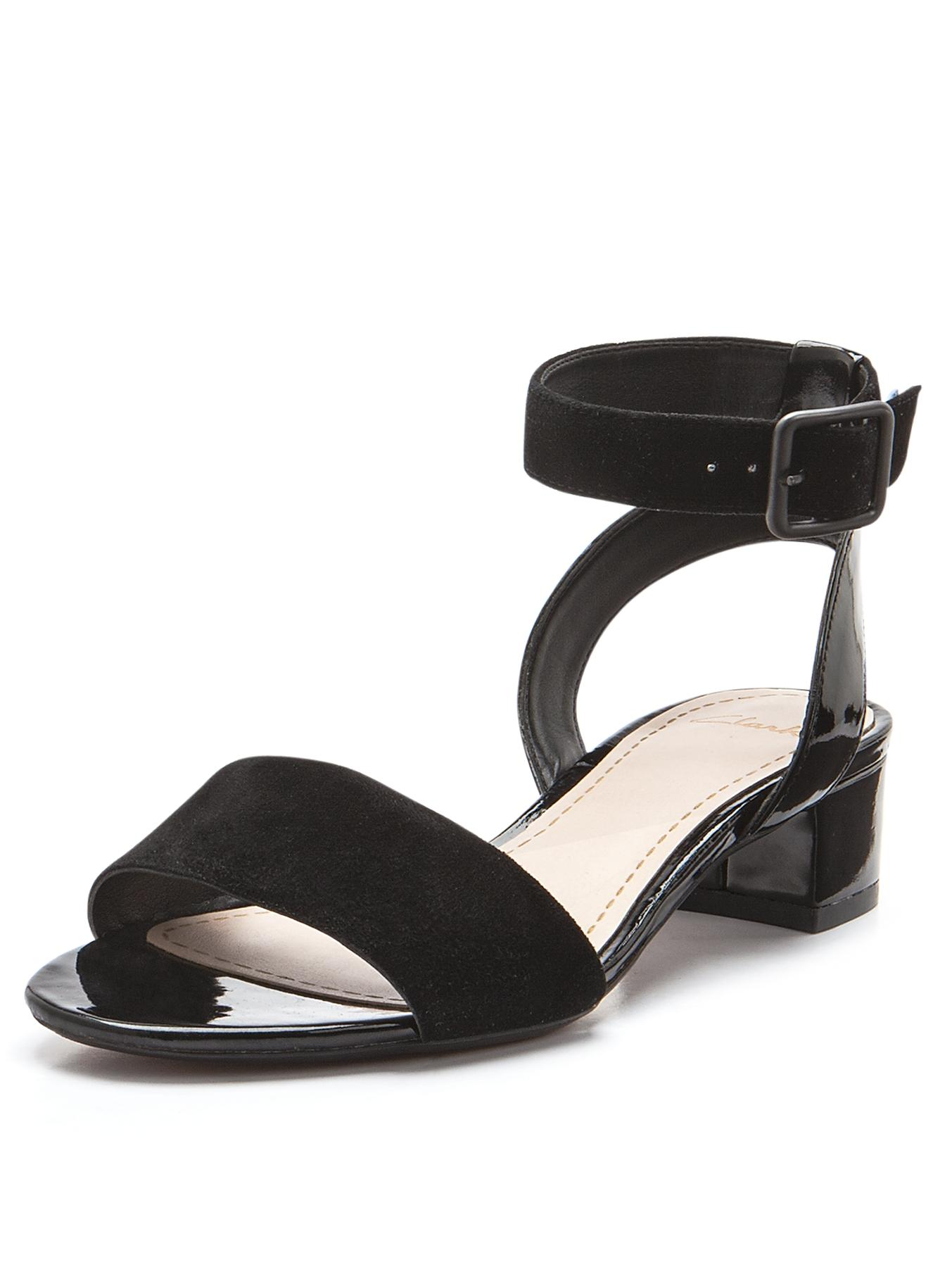 Clarks Sharna Balcony Sandals - Black, Black