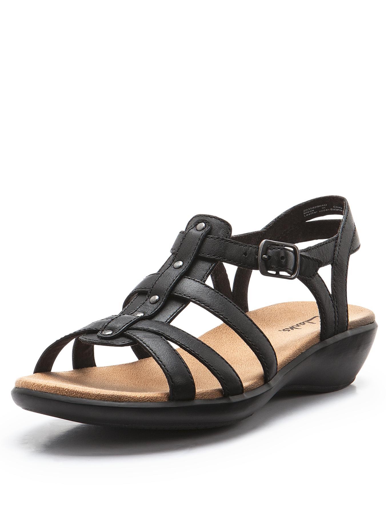 Clarks Roza Jaida Gladiator Strap Sandals black | Designer-Fashion