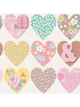 arthouse-patchwork-heart-pastel-wallpaper