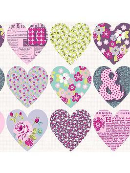 arthouse-patchwork-heart-purple-wallpaper