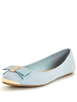 v-by-very-beatty-pointed-ballerina-with-gold-trims-pale-blue