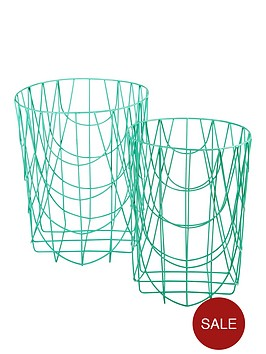 set-of-2-round-wire-baskets-no-handles-spearmint