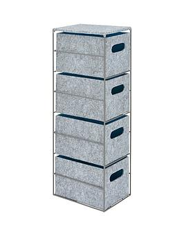 narrow-4-drawer-felt-unit-with-grey-metal-frame