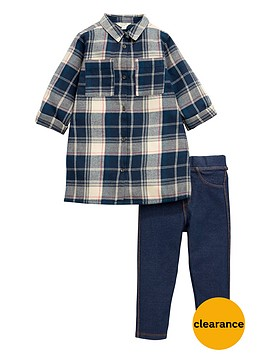 river-island-check-shirt-and-leggings-set
