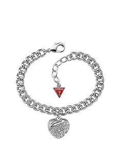 guess-rhodium-plated-crystal-heart-drop-curb-bracelet