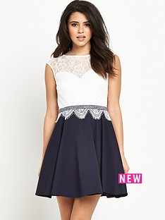 lipsy-hush-violet-lace-skater-dress