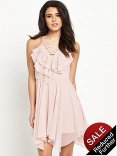 lipsy-ruffle-lace-up-dress