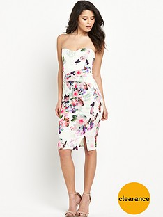 lipsy-print-sweetheart-bandeau-dress
