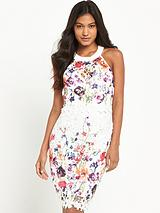 Printed 2-in-1 Lace Dress