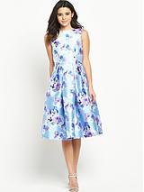 Floral Full Midi Prom Dress