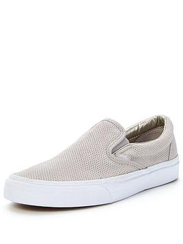 vans-classic-slip-on-perf-suede-trainers-silver