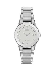 citizen-citizen-eco-drive-axiom-diamond-silver-dial-stainless-steel-ladies-bracelet-watch