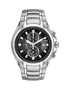 citizen-citizen-eco-drive-black-dial-chronograph-titanium-bracelet-mens-watch