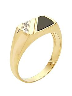 love-gold-9ct-yellow-gold-5-point-diamond-and-onyx-mens-ring