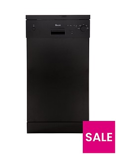 Swan SDW2011B 10-Place Slimline Dishwasher - Black