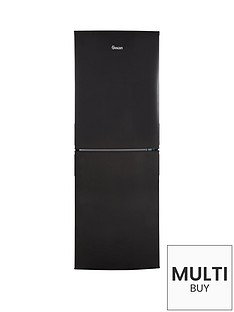 swan-sr9081b-55cm-wide-frost-free-fridge-freezer-black