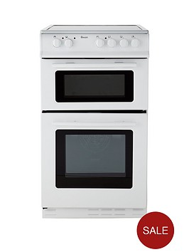 swan-sx2021w-50cm-wide-ceramic-twin-cavity-freestanding-electric-cooker-white