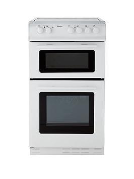 Swan Sx2021W 50Cm Wide Ceramic Twin Cavity Freestanding Electric Cooker - White