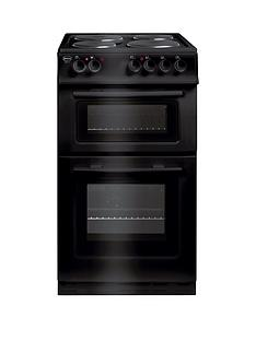 Swan SX2011B 50cm Wide Freestanding Twin Cavity Electric Cooker - Black