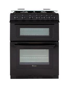 swan-sx2061b-60cm-wide-freestanding-gas-double-oven-cooker-black