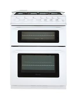 swan-sx2061w-60cm-wide-freestanding-gas-double-oven-cooker-white