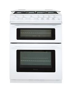 swan sx2061w 60cm wide gas double oven cooker - Gas Ovens