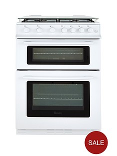 swan-sx2061w-60cm-wide-freestanding-gas-double-oven-cooker