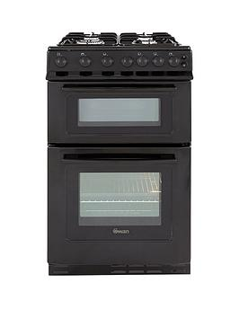 swan-sx2071b-50cm-wide-freestandingnbsptwin-cavity-gas-cooker-black
