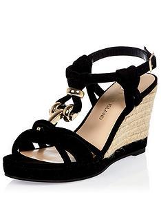 river-island-snake-knot-trim-wedge-sandal