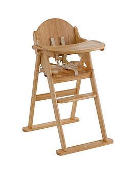East Coast Wooden Folding Highchair - Natural
