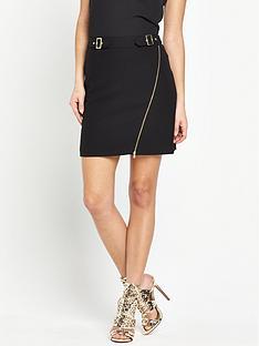 v-by-very-buckle-detail-mini-skirt