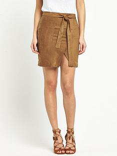 v-by-very-suedettenbspmock-wrap-skirt