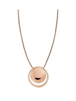 skagen-elin-rose-gold-plated-circle-pendant