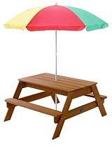 Children's Garden Picnic Table with Parasol