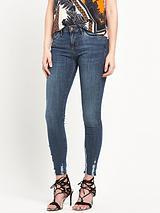 Amelie Ripped Hem Super Skinny Jean