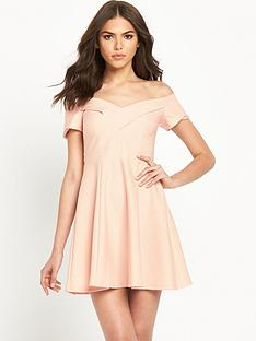 river-island-bardotnbspfit-and-flare-skater-dress